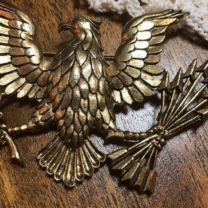 Vintage Jewelry - SOLD Big Golden Eagle Brooch